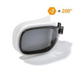 500 SELFIT深色泳鏡鏡片 S號 200度