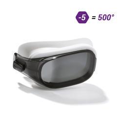 泳鏡500 SELFIT專用深色鏡片,L號,500度