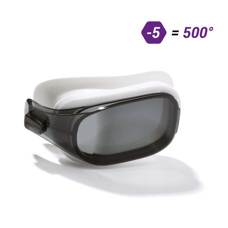 SWIMMING GOGGLES OR MASKS Swimming - SELFIT OPTIC LENS L SMOKE -5 NABAIJI - Swimming Accessories