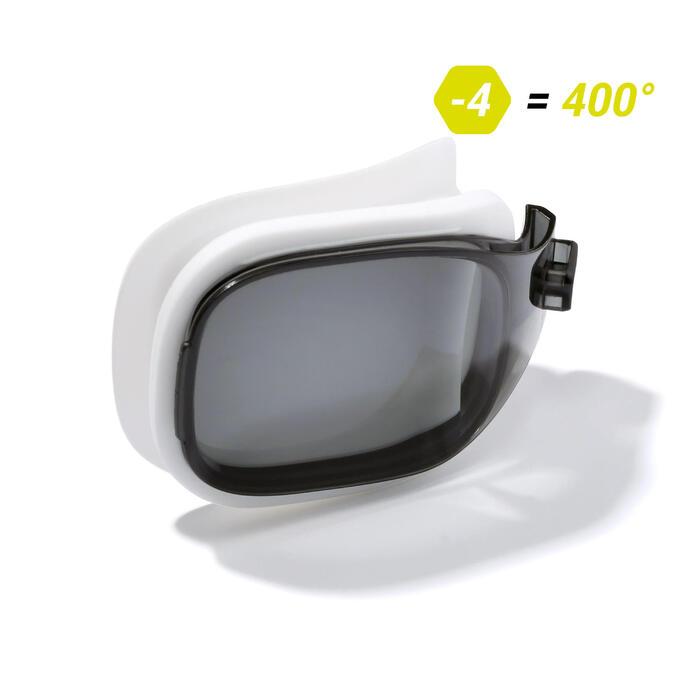 Brillenglas Stärke -4 für Schwimmbrille 500 Selfit Größe S getönt