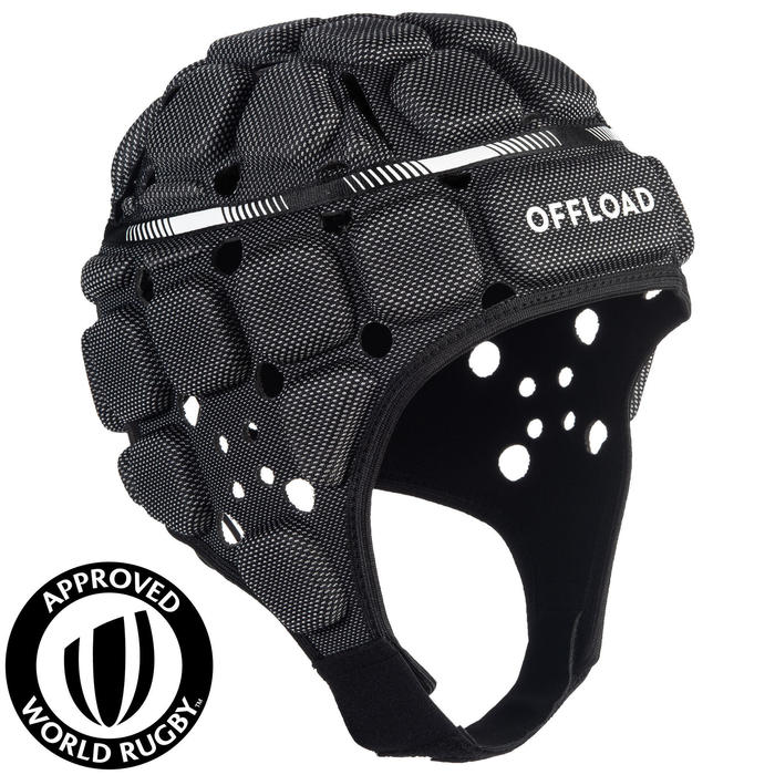 Kopfschutz Rugby R900 Erwachsene schwarz