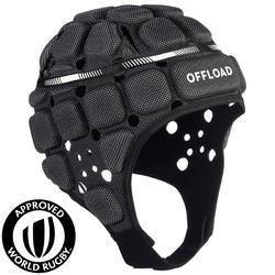 成人款橄欖球爭球頭盔R900-黑色