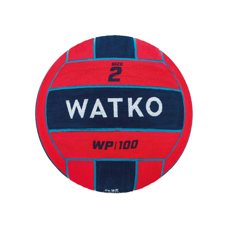 WATER POLO BALL WP500 SIZE 2 - RED / BLUE