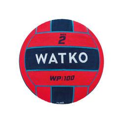 Wasserball Water Polo WP500 Größe 2 rot/blau