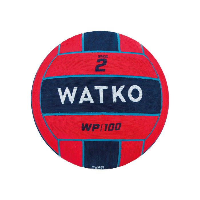 Waterpolobal WP500 maat 2 rood/blauw
