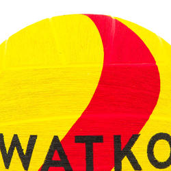 BALLON WATER POLO WP500 TAILLE 5 JAUNE ROUGE