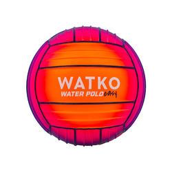 Grote zwembadbal met grip oranje/roze
