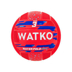 BALLON WATER POLO EASY ROUGE TAILLE 3