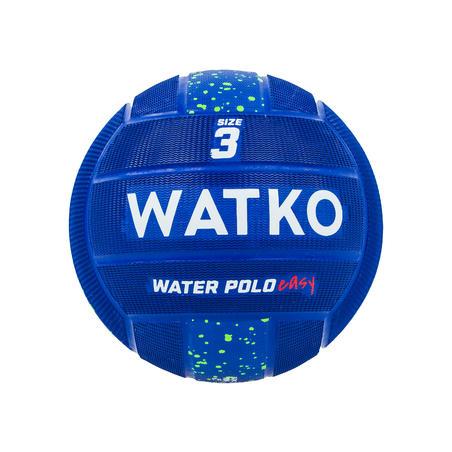 Balón Waterpolo Easy Azul Talla 3