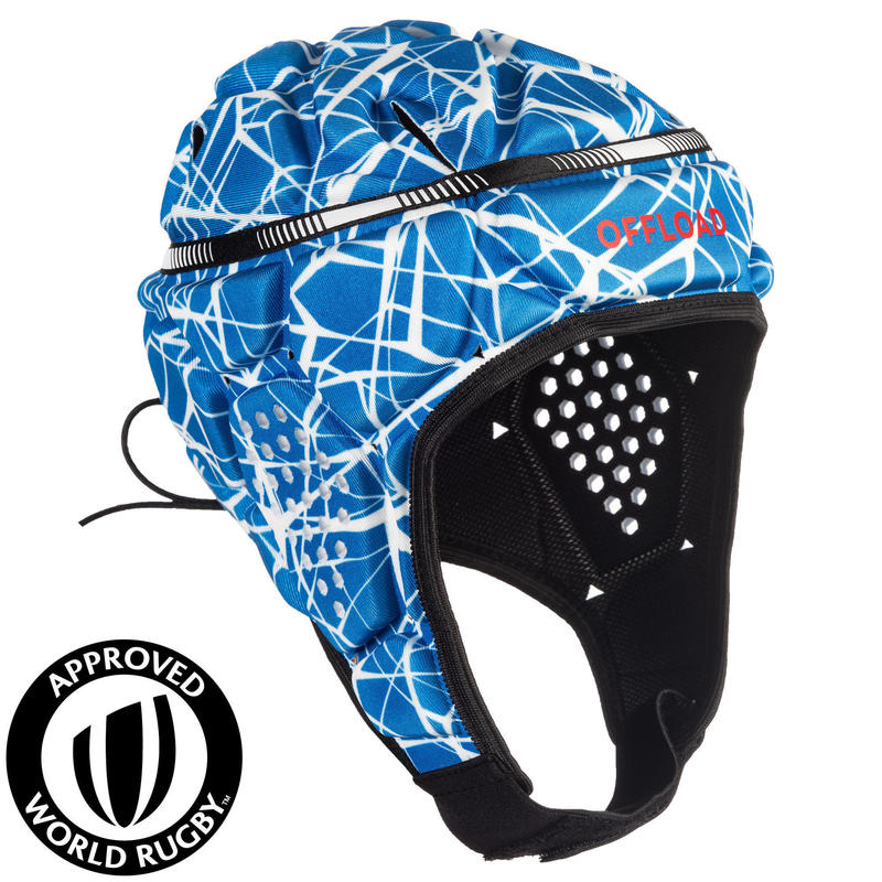 Adult Rugby Head Guard 500 - Blue/White