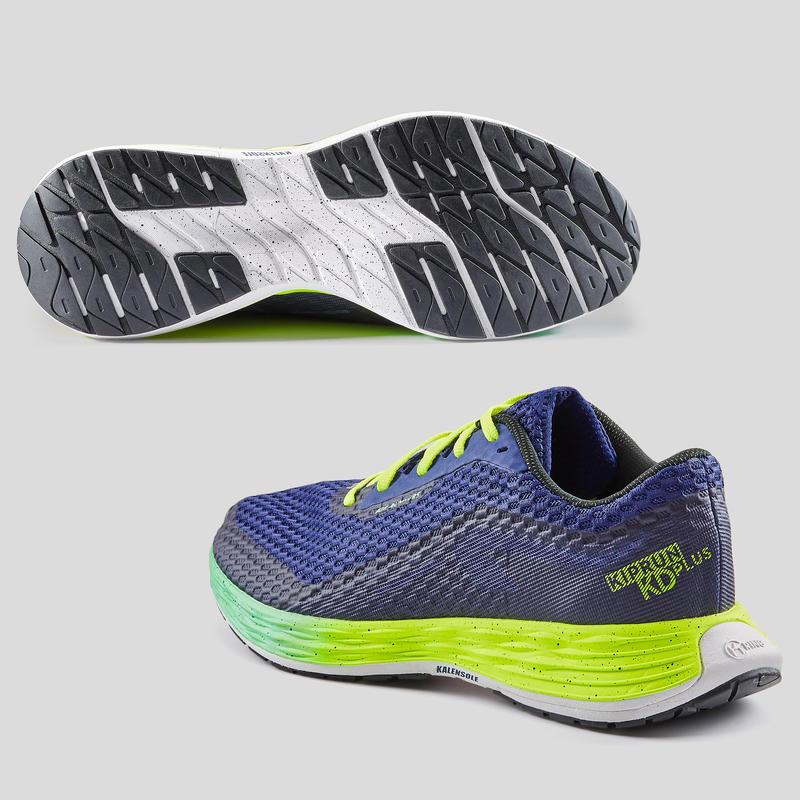 รองเท้าผู้ชายสำหรับใส่วิ่งรุ่น KIPRUN KD PLUS (สีน้ำเงิน)