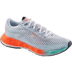 KIPRUN KD PLUS WOMEN'S RUNNING SHOES - CORAL/GREEN