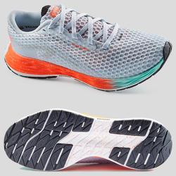 Hardloopschoenen voor dames Kiprun KD Plus grijs koraalrood groen