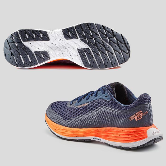 Hardloopschoenen voor dames Kiprun KD Plus koraalrood/donkerblauw