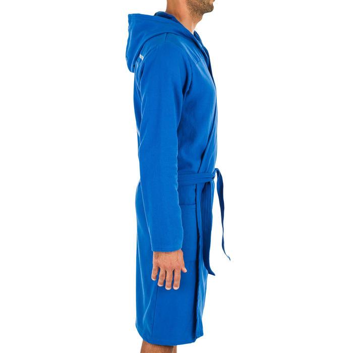 Badjas met capuchon voor heren lichtblauw licht katoen