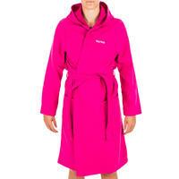 Women's Lightweight Cotton Pool Bathrobe with Hood - Pink