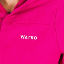 Peignoir de bain à capuche coton léger femme rose