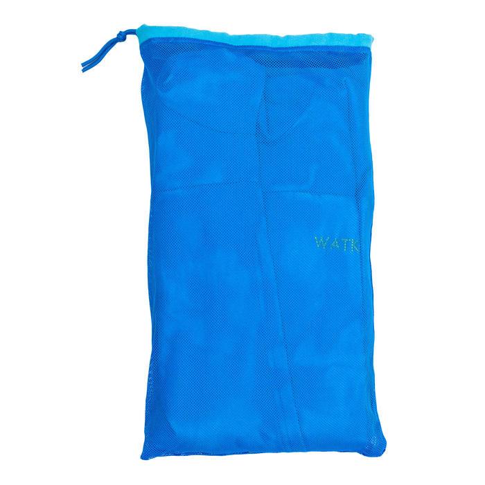 Badjas met capuchon voor heren blauw compacte microvezel
