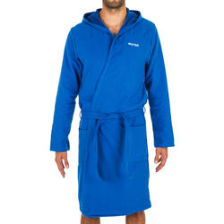 Peignoir de bain homme coton bleu clair
