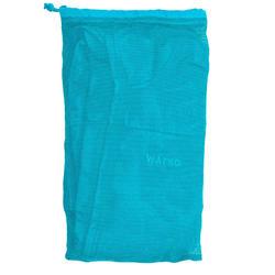 Badjas met capuchon voor dames turquoise licht katoen