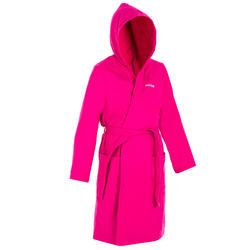 Katoenen badjas voor dames roze