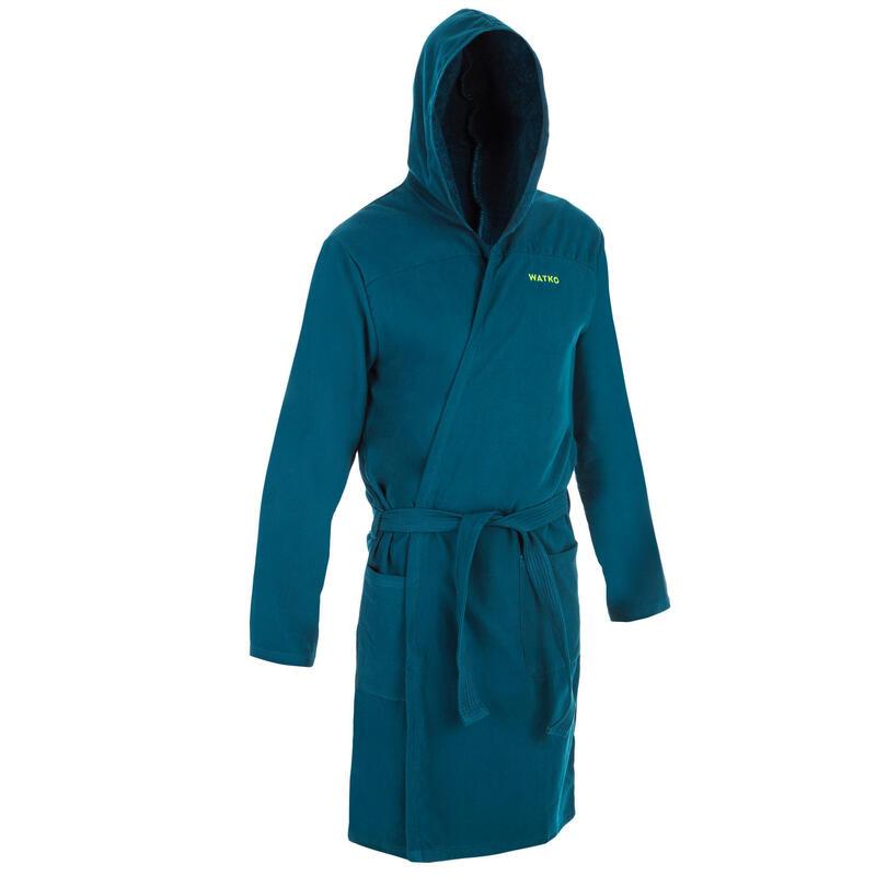 Men's organic cotton pool bathrobe -green