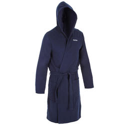 Badjas voor heren katoen donkerblauw