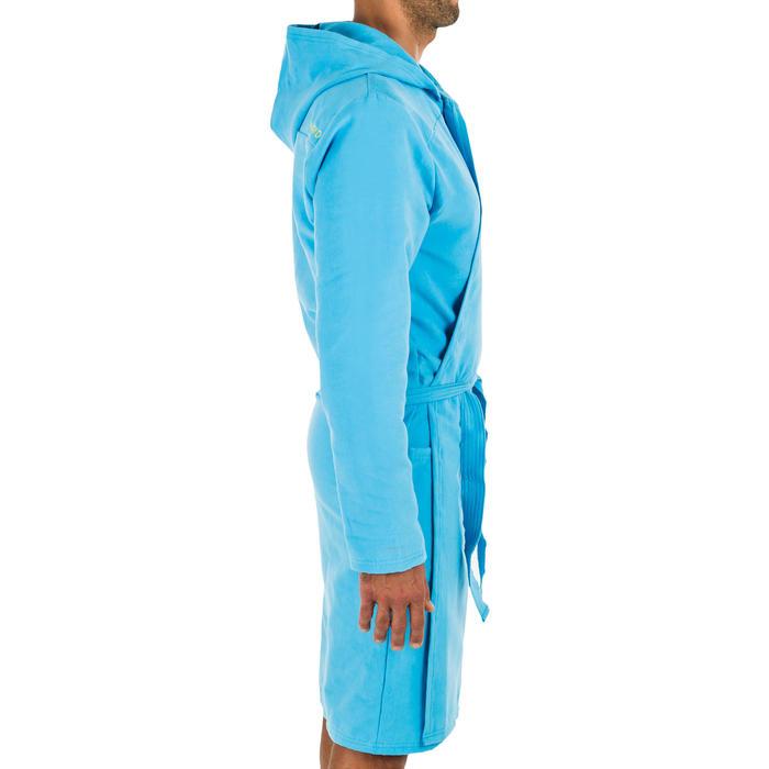 Peignoir de bain à capuche microfibre compact homme bleu