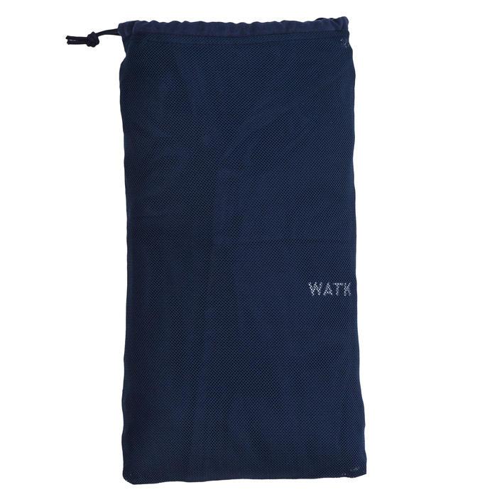 Peignoir de bain à capuche coton léger homme bleu marine