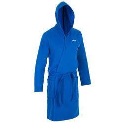 Katoenen badjas voor heren lichtblauw