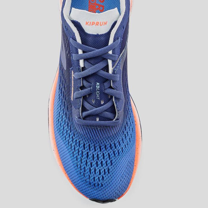 Hardloopschoenen voor dames Kiprun KD Light koraalrood/blauw