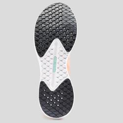 Hardloopschoenen voor dames Kiprun KD Light koraalrood/groen