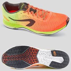 Hardloopschoenen voor heren Kiprun Ultralight rood/geel