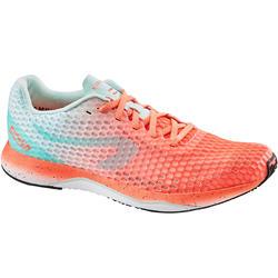 Hardloopschoenen voor dames Ultralight koraal/groen