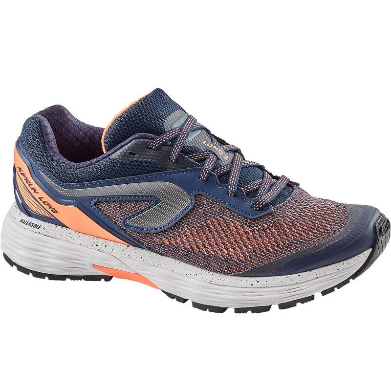 Scarpe running donna KIPRUN LONG 2 azzurro-corallo