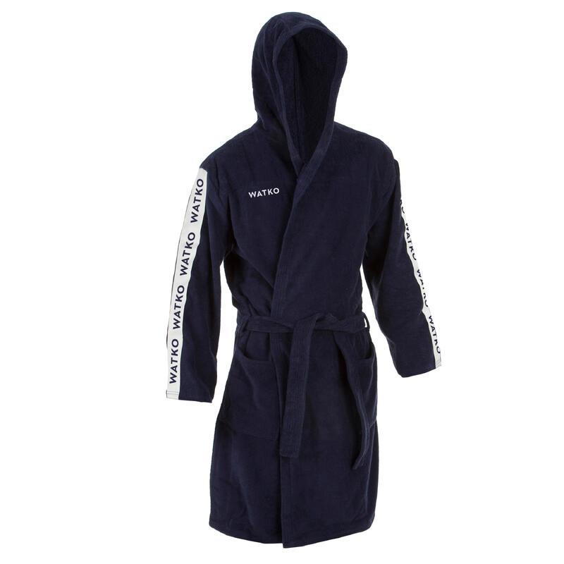 Men's Water Polo Thick Cotton Bathrobe 500 - Navy Blue
