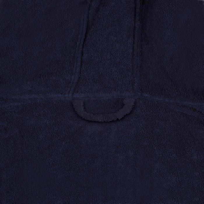 Badjas voor waterpolo voor heren dik katoen 500 marineblauw