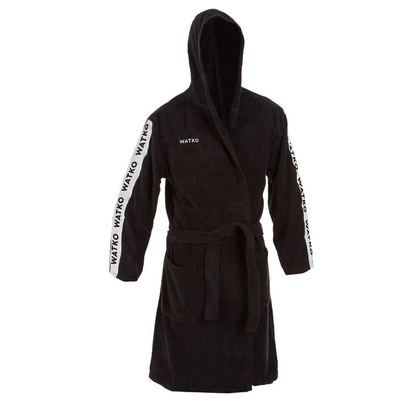 BATHROBES Water Polo - M Cotton Bathrobe WP 500 Black NABAIJI - Water Polo