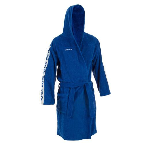 peignoir de bain homme coton epais water polo 500 bleu clair