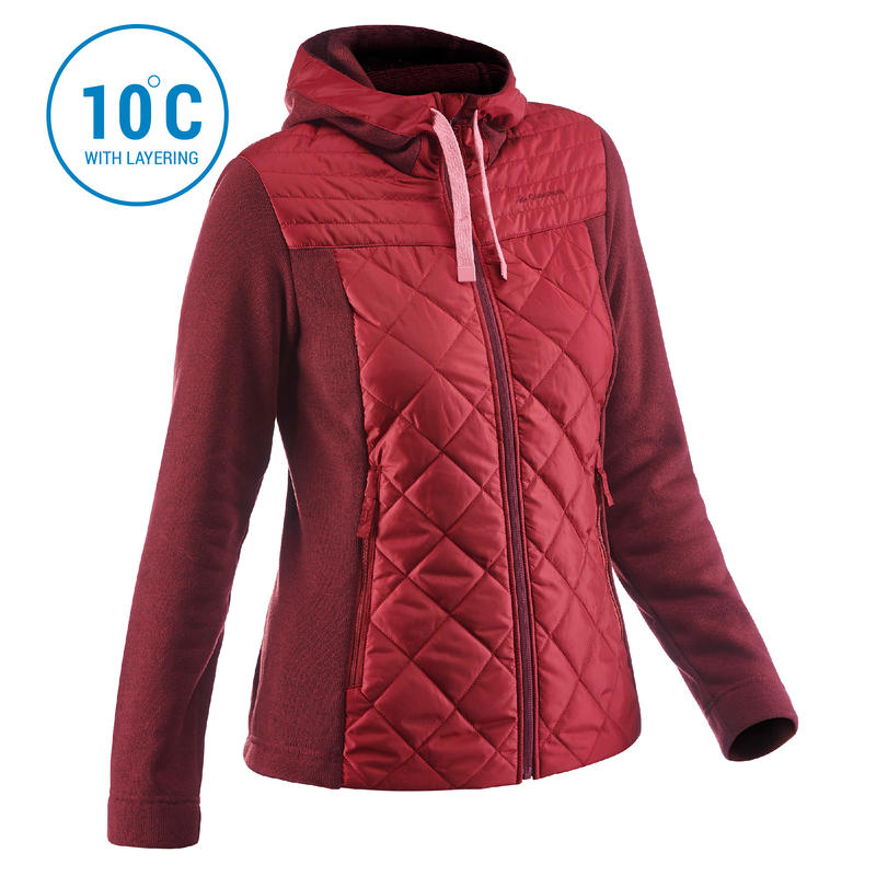 Women's Pullover NH100 - Maroon