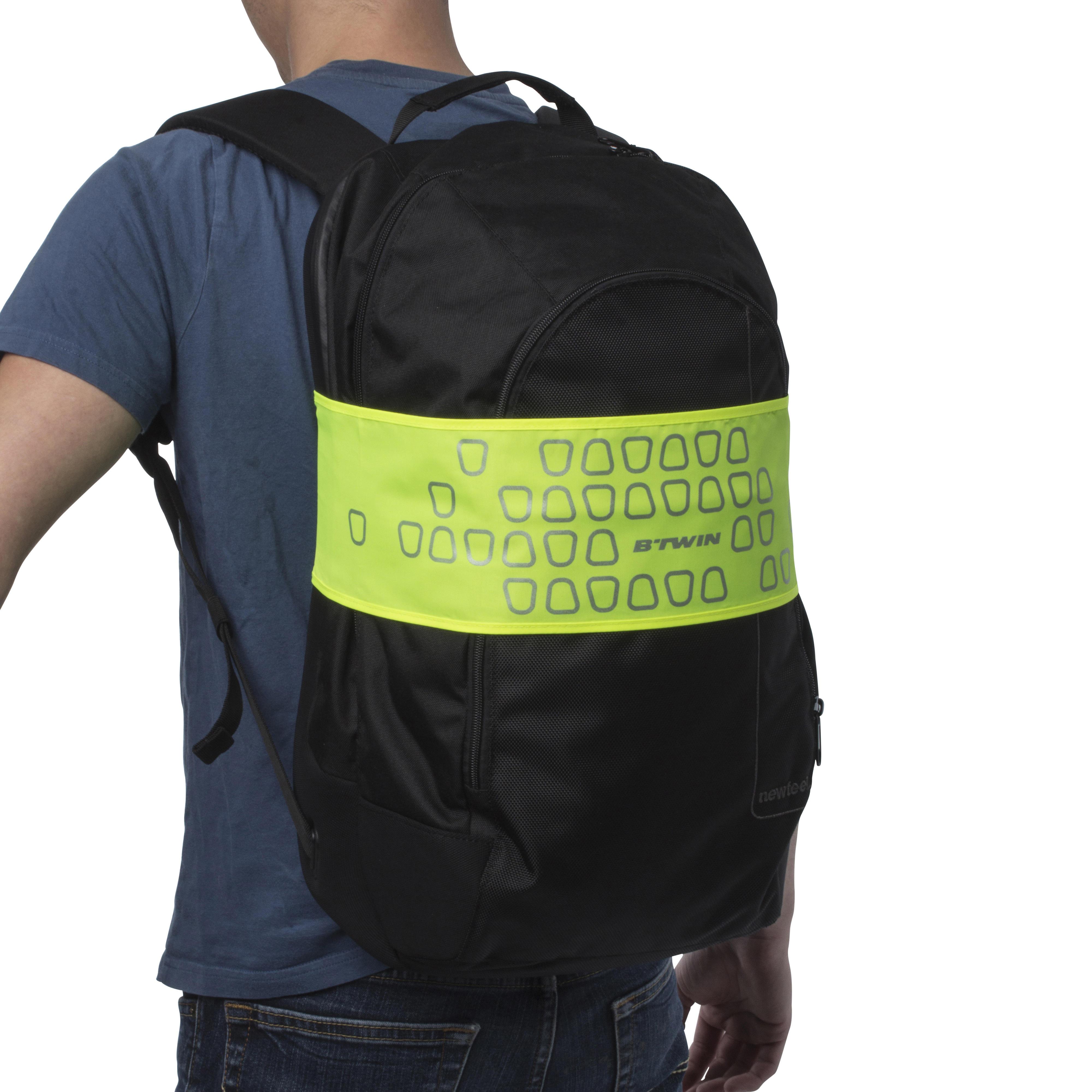 Rucksack-Reflektorband neongelb | Taschen > Rucksäcke > Sonstige Rucksäcke | Btwin