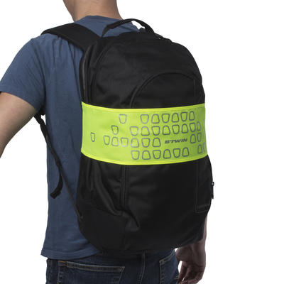 Світловідбивний пояс на рюкзак - Неоновий жовтий
