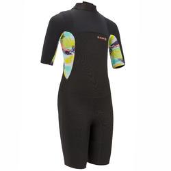 Shorty wetsuit Kind 500 zwart