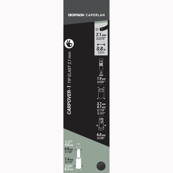 SCION EQUIPE CARPOVER-1 TIP ELASTIQUE 2.1MM