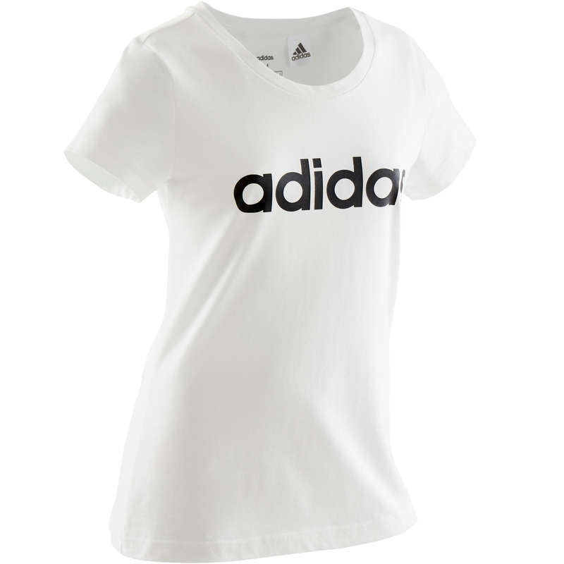 GIRL EDUCATIONAL GYM APPAREL Fitness and Gym - Girls' T-Shirt - White ADIDAS - Gym Activewear
