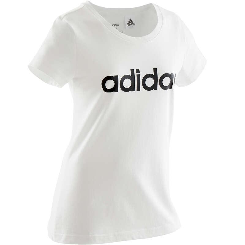 ÎMBRĂCĂMINTE EDUCAȚIE FIZICĂ FETE Descopera Produsele Reduse - Tricou Adidas alb fete ADIDAS - COPII
