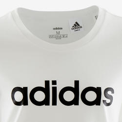 T-shirt voor meisjes wit met zwart logo op de borst