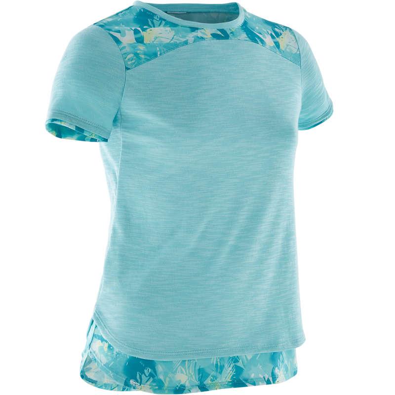 GIRL EDUCATIONAL GYM APPAREL Clothing - Girls' Gym T-Shirt 500 DOMYOS - By Sport