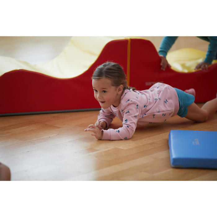 Sweat 100 Baby Gym fille et garçon Rose AOP