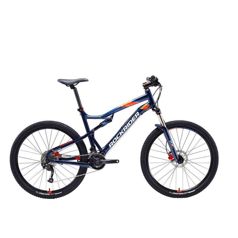 BICI MTB ST UOMO REGOLARE/ESPERTO Ciclismo, Bici - Mtb ST 540 S blu-arancio 27,5